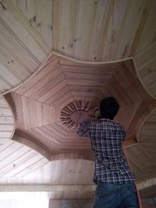 Thi công vách – trần gỗ, thạch cao