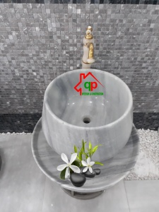 Bồn rửa lavabo bằng đá